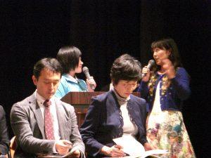 司会の農業女子PJサポーターズの沼尾ひろ子さん(一番右)