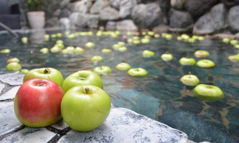 株式会社温泉道場】「ちょっと早めのりんご風呂」を開催しました!|成果発表|個別PJ|農業女子PJ